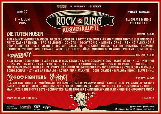 Rock Am Ring 2015 Spielplan Online Metalde