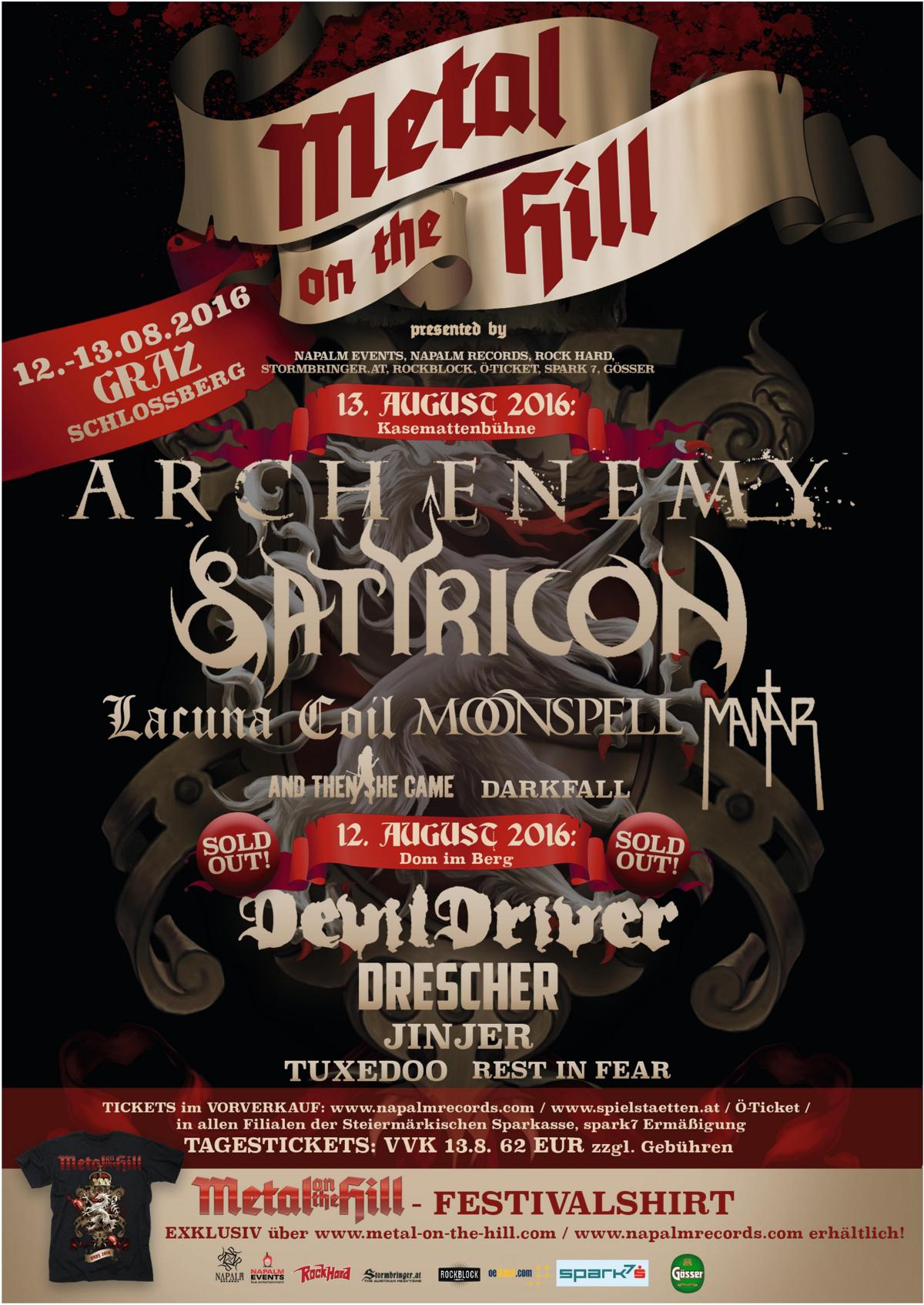 Metal On The Hill 2016 - Plakat