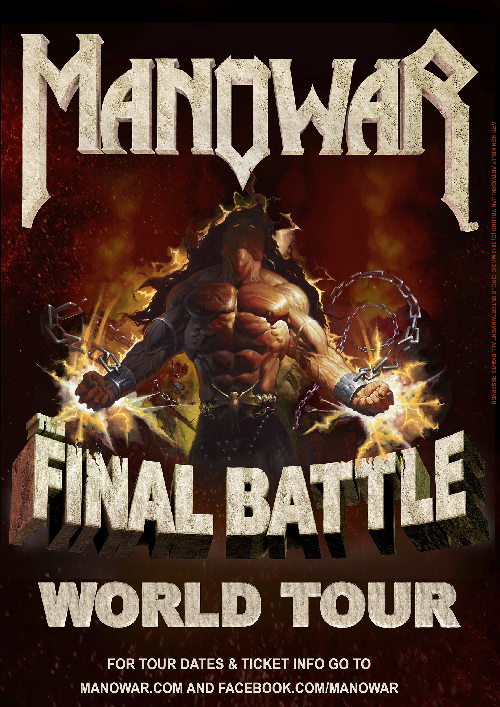 Manowar - The Final Battle (Tourplakat)