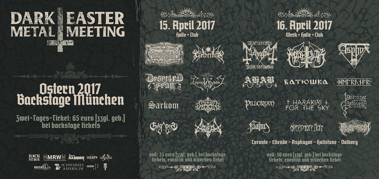 Flyer Dark Easter Metal Meeting 2017