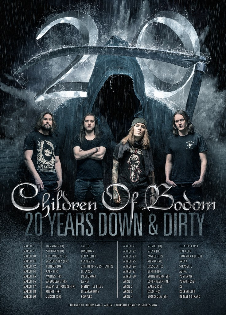 Tourplakat Children Of Bodom Tour 2017