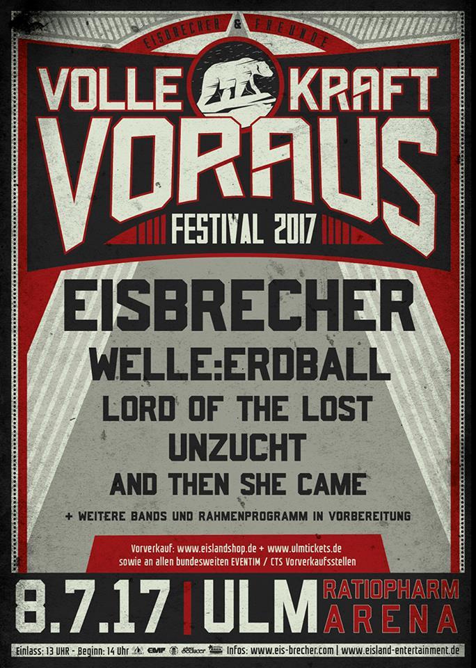 Tourplakat Eisbrecher Volle Kraft Voraus Festival 2017
