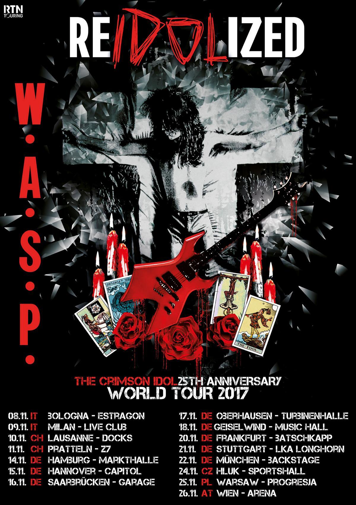 """W.A.S.P. - """"Re-Idolized""""-Tourflyer"""