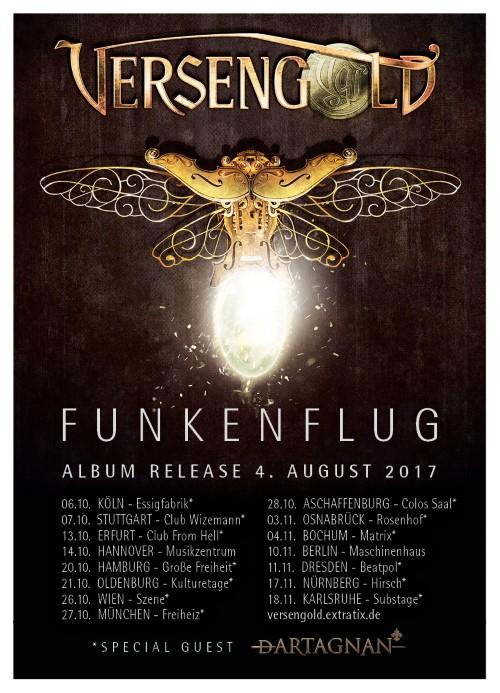 VERSENGOLD - Plakat zur Funkenflugtour 2017