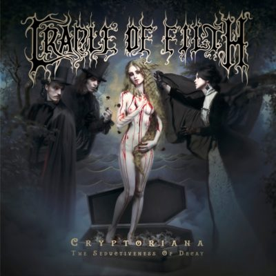 "Cover des Albums ""Cryptoriana - The Seductiveness Of Decay"" von Cradle Of Filth"