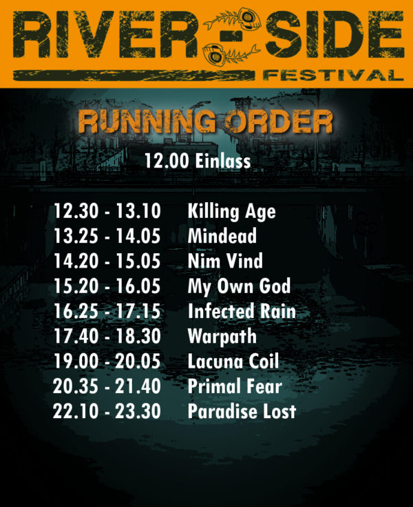 River-Side-Festival 2017 - Running Order
