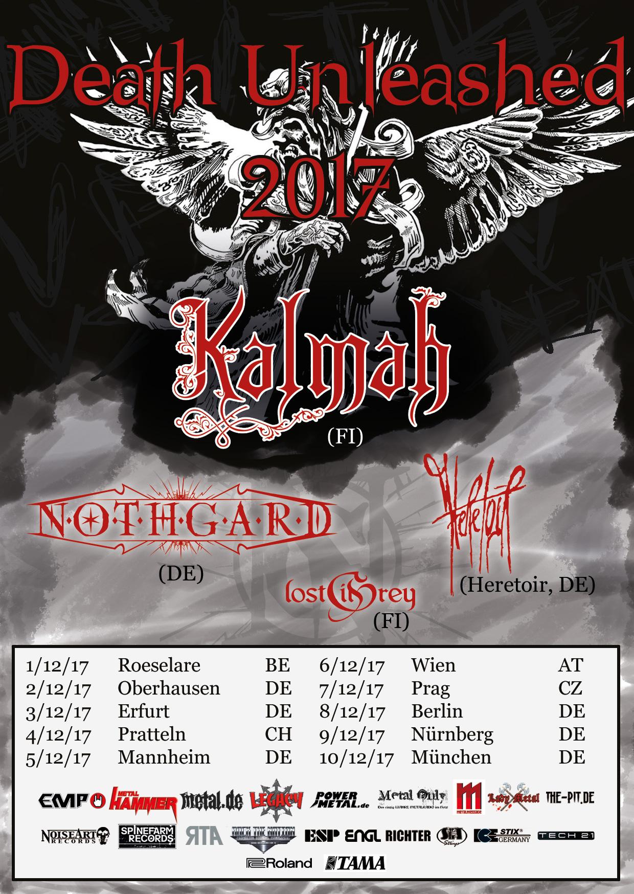 Death Unleashed Tour 2017 - Flyer