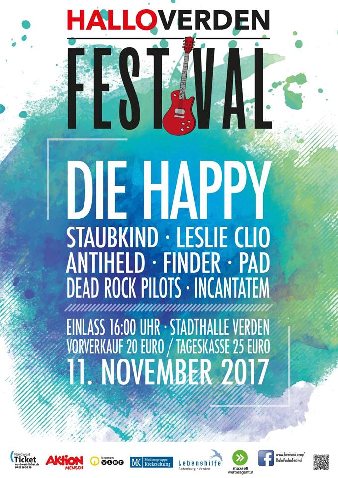 Tourplakat Hallo Verden Festival 2017