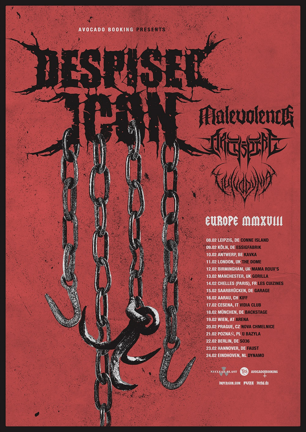 Despised Icon Tourposter 2018