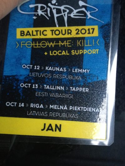 Tourpass CRIPPER Baltikum Tour 2017