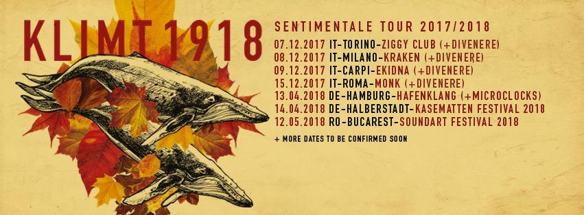 Tourplakat Klimt 1918 für 2017/18