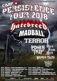 Tourplakat Persistence Tour 2018
