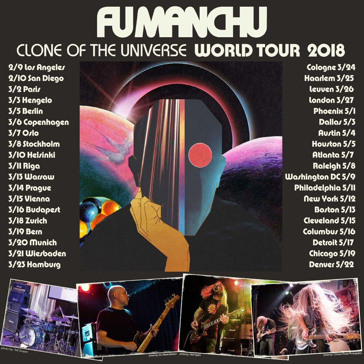 Tourplakat Fu Manchu 2018