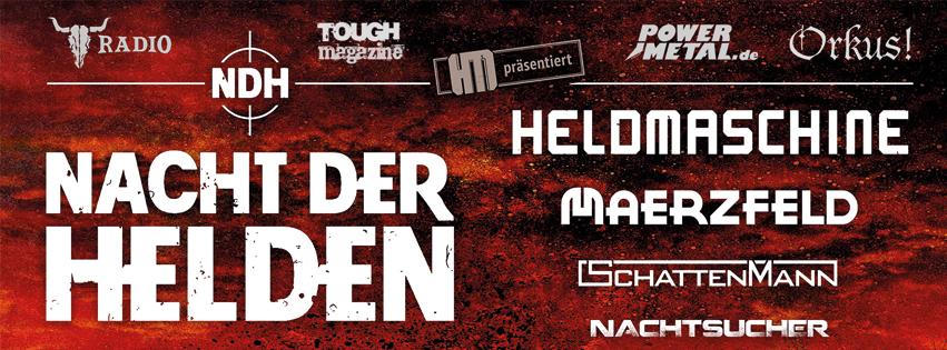 Flyer für Nacht Der Helden 2017