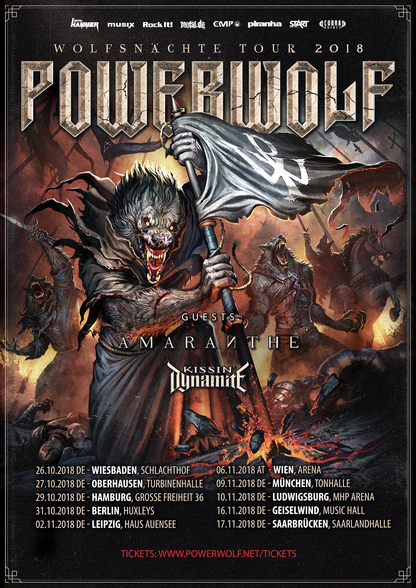 Powerwolf - Wolfsnächte Tour 2018