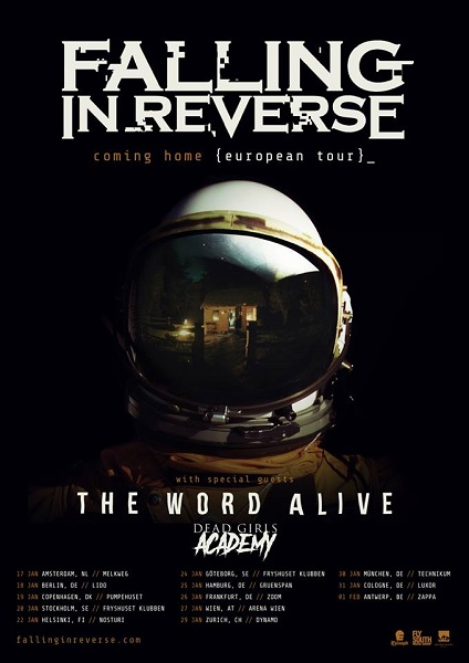 Tourplakat von Falling In Reverse
