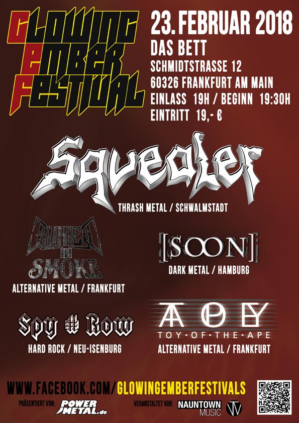 Tourplakat Glowing Ember Festival 2018 Frankfurt