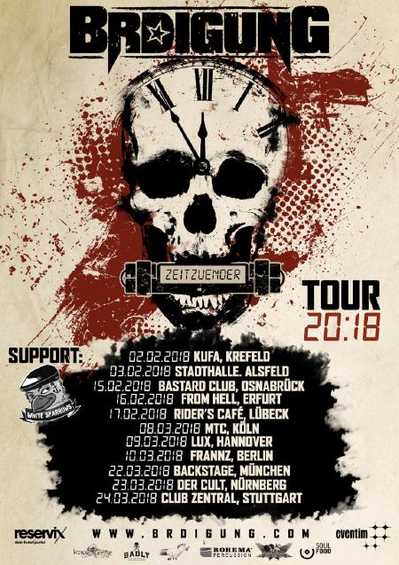 BRDigung - Tourplakat - Zeitzünder Tour 2018