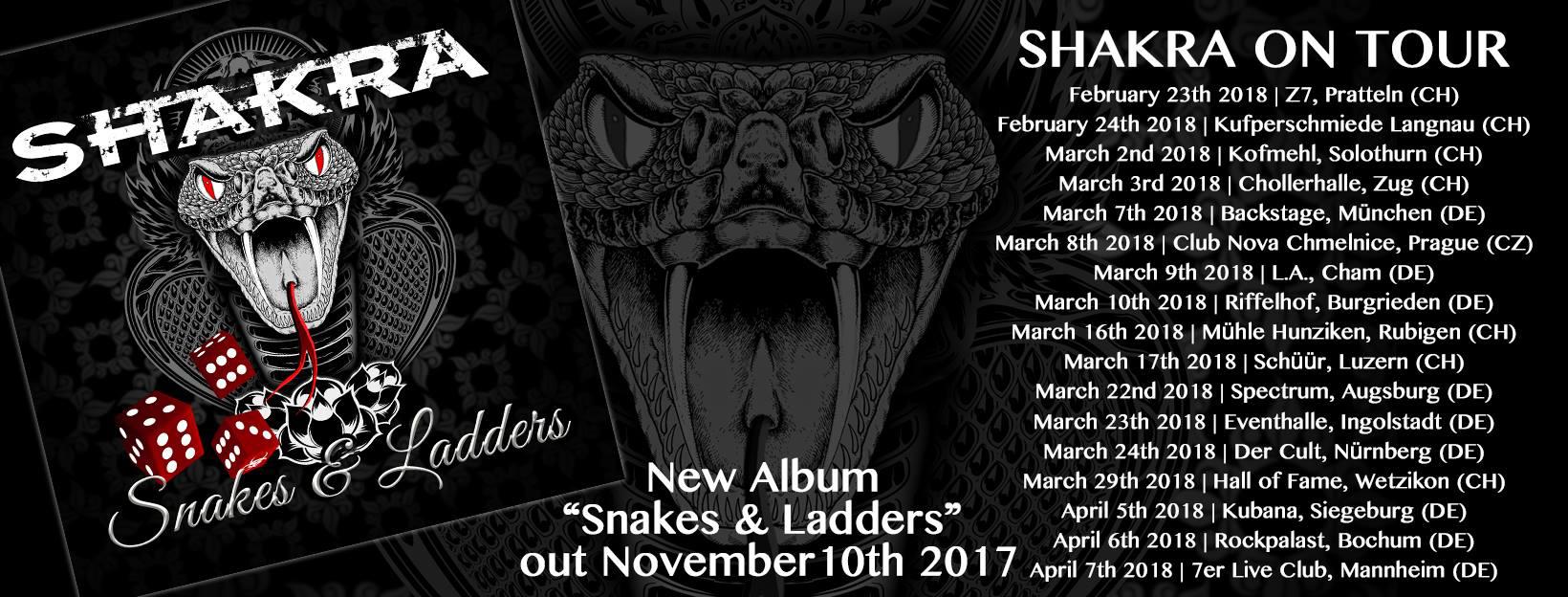 Tourplakat von Shakra 2018