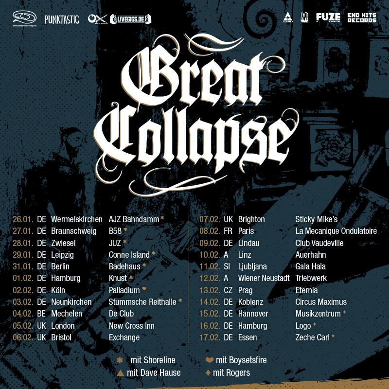 Tourbanner Great Collapse 2018