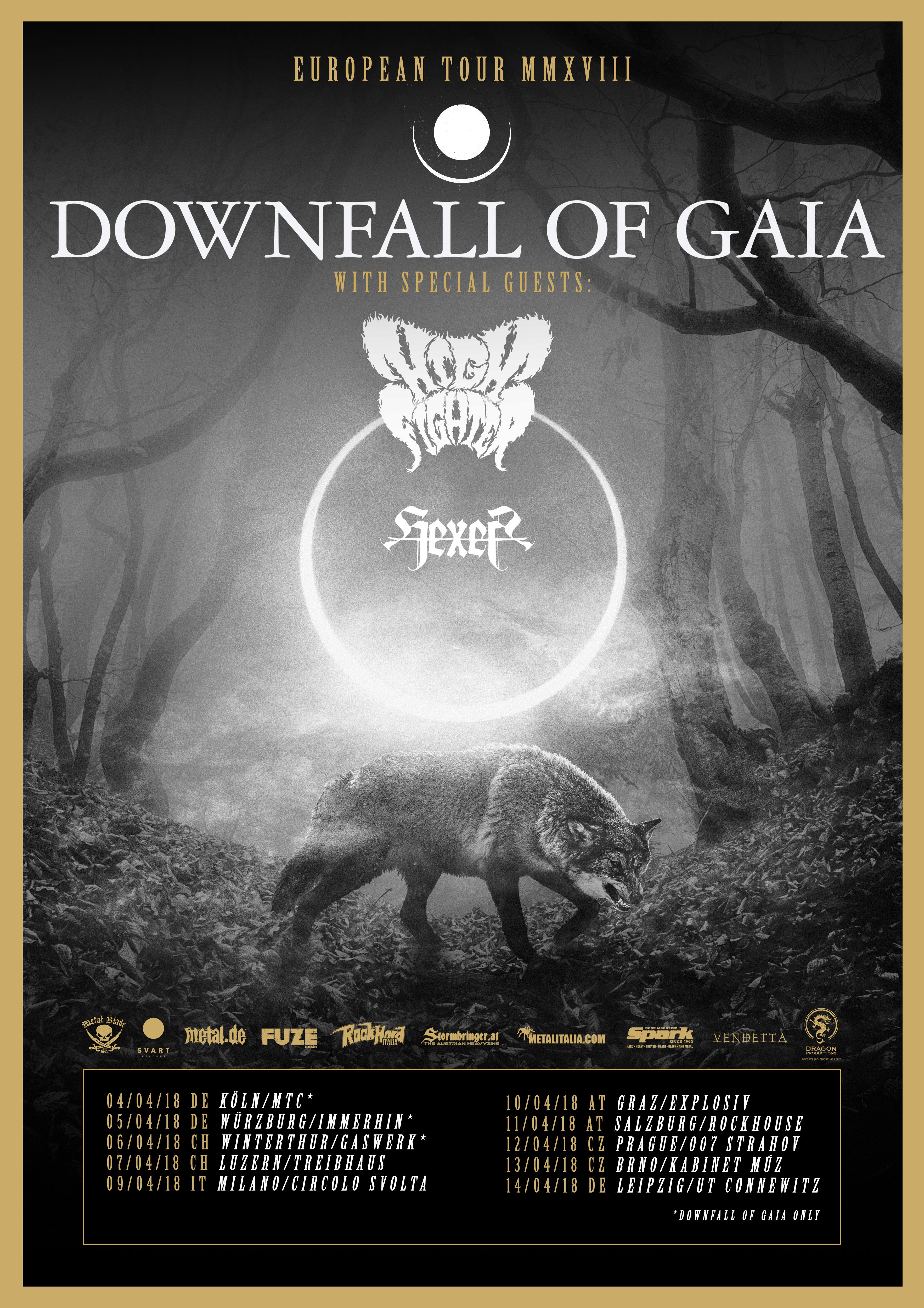 Downfall Of Gaia - Europea Tour MMXVIII April