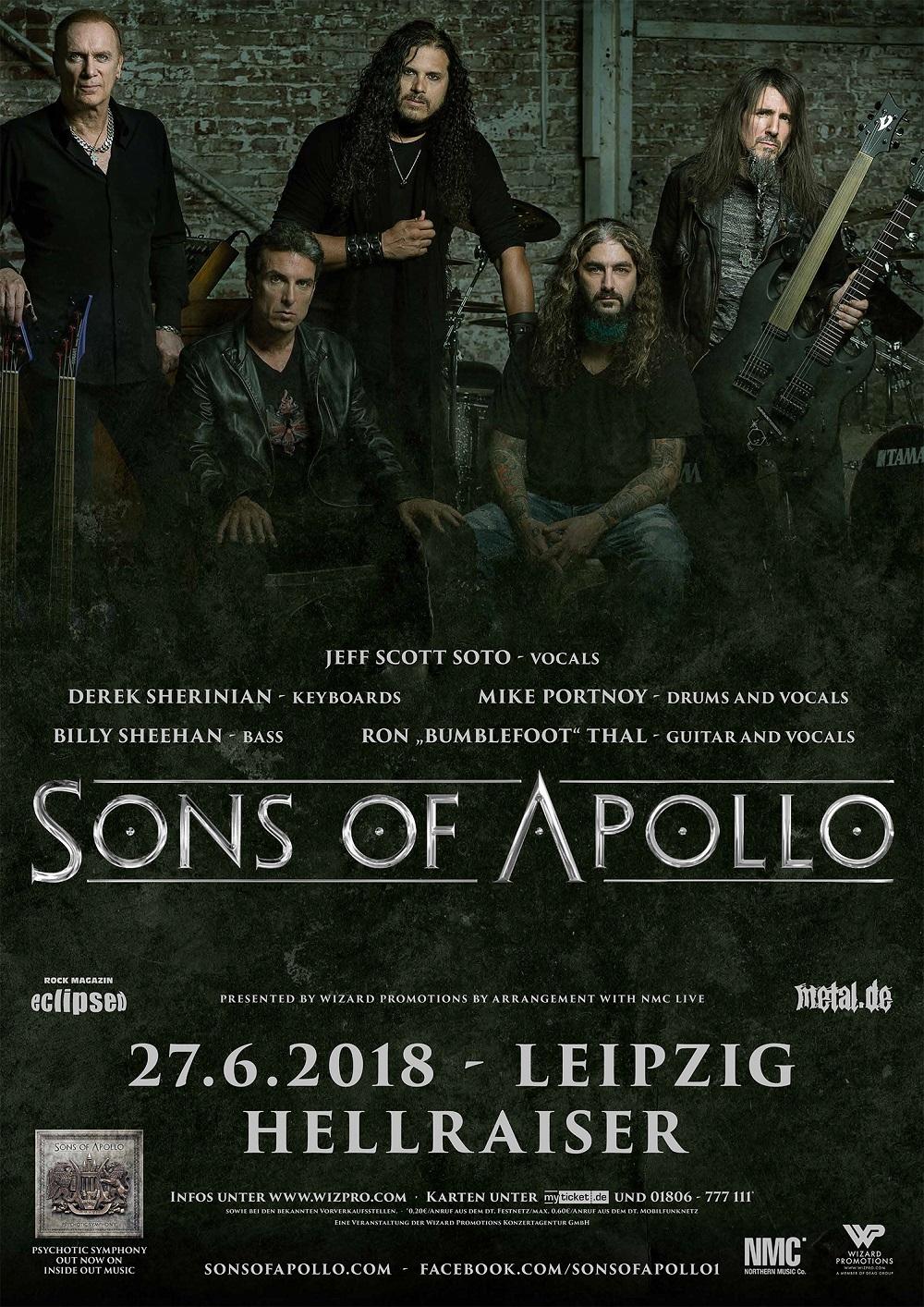 Sons Of Apollo - Konzert 2018 Poster