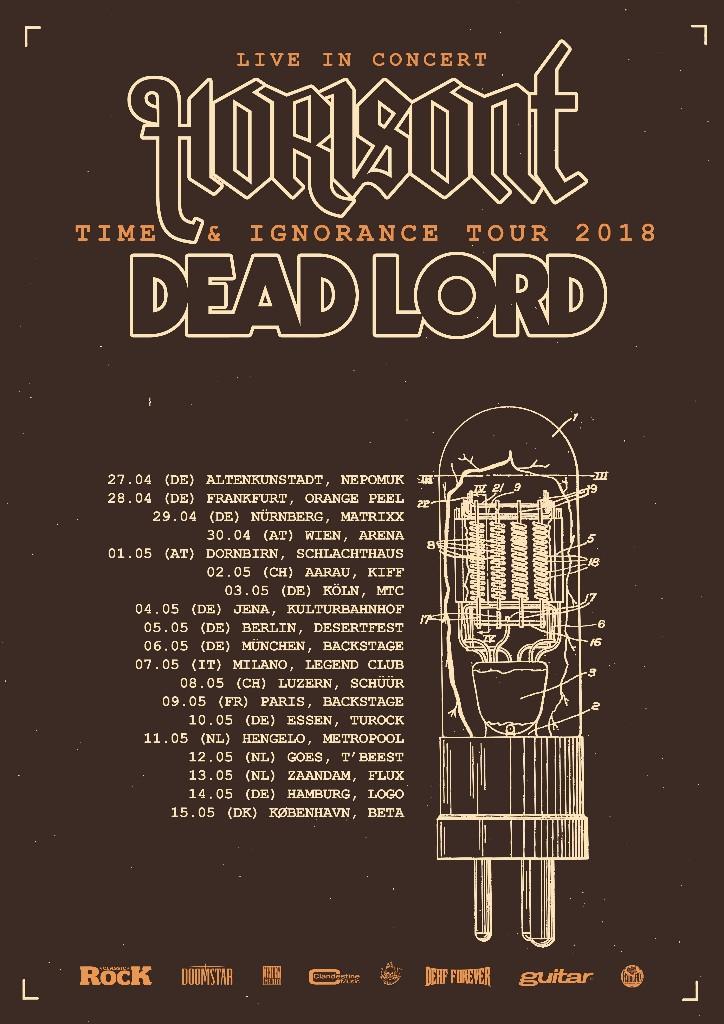 Tourbanner von Horisont & Dead Lord -