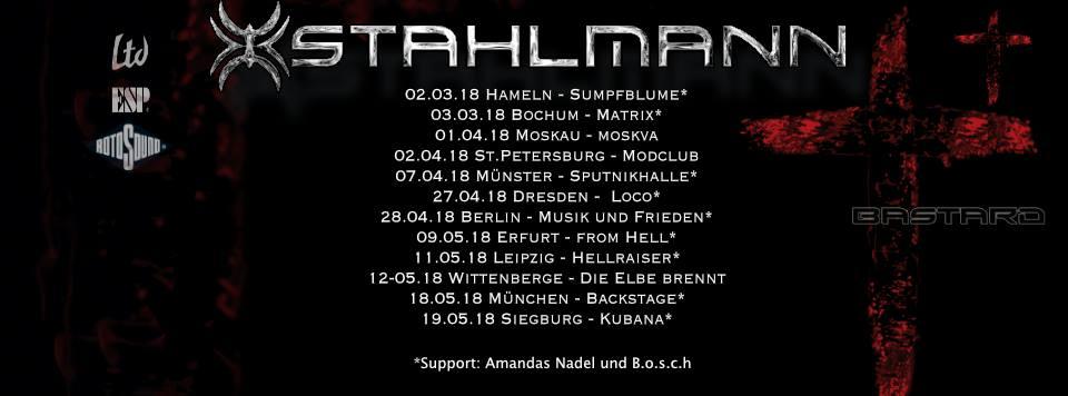 Tourplakat Stahlmann Bastard Tour 2018