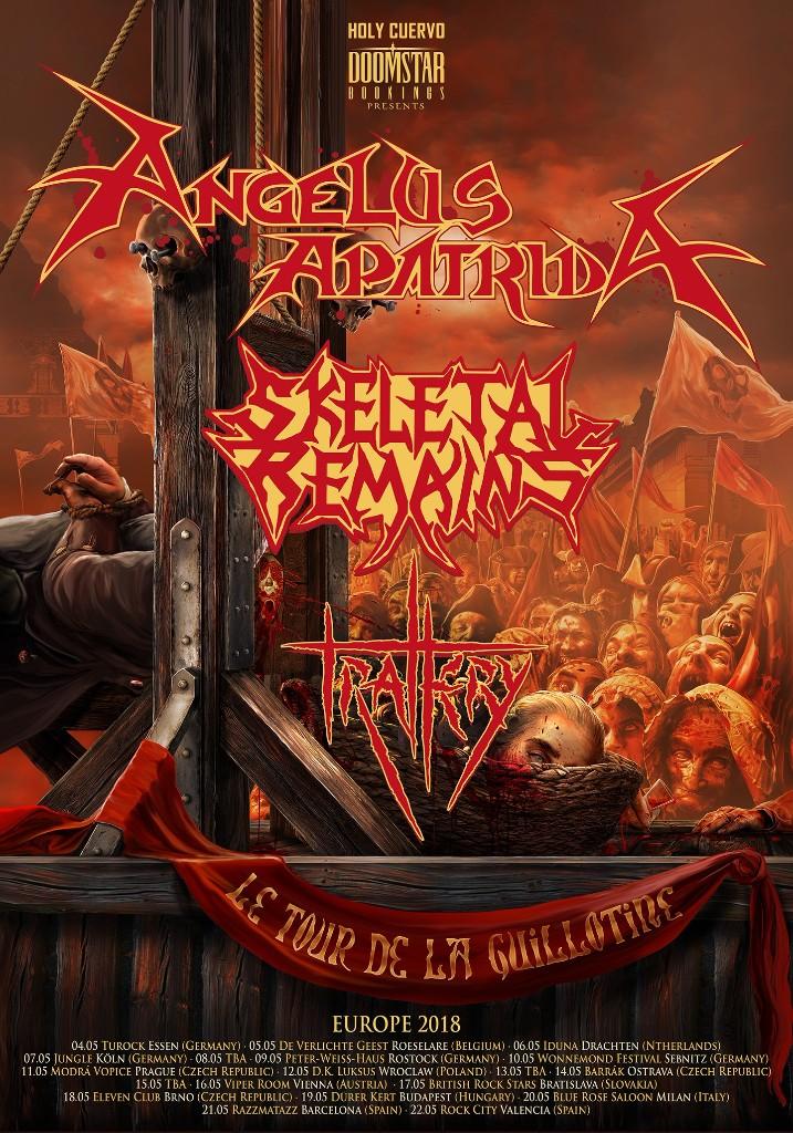 Tourplakat von Angelus Apatrida auf European Tour 2018