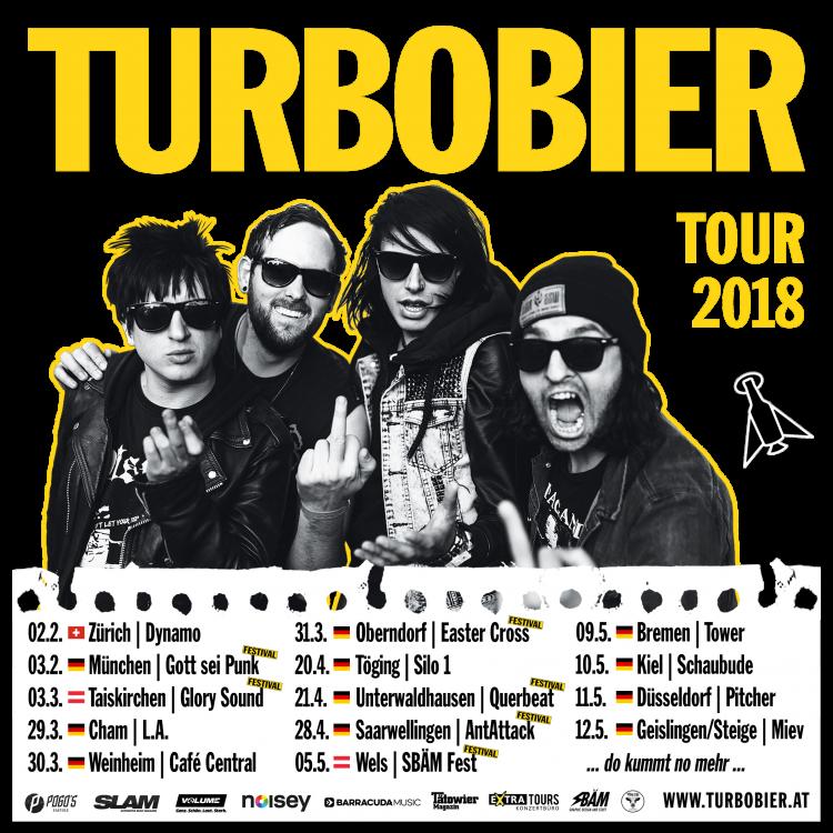 Tourplakat Turbobier Tour 2018