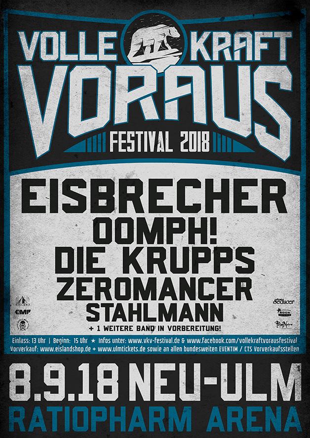 Festivalplakat Volle Kraft Voraus Festival 2018