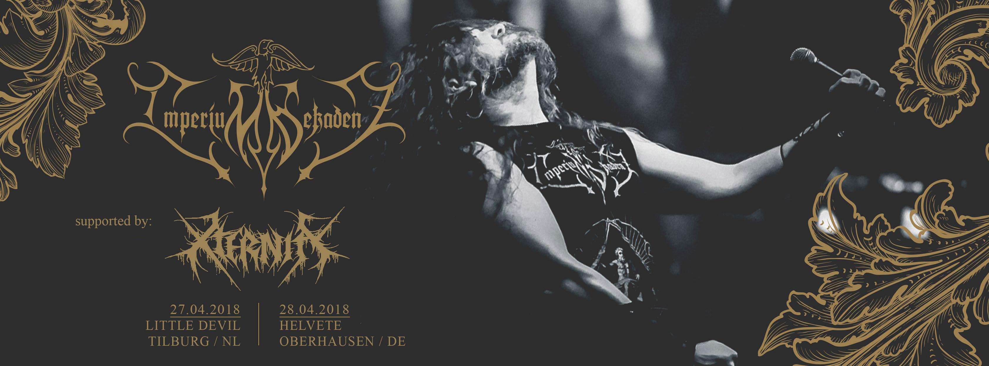 Konzertplakat Imperium Dekadenz 2018
