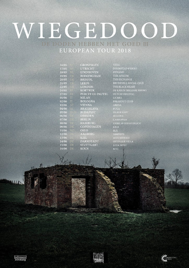 Tourplakat von Wiegedood - European Tour 2018