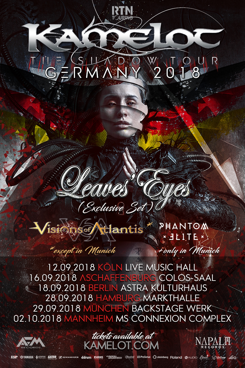 Kamelot - The Shadow Tour Europe 2018