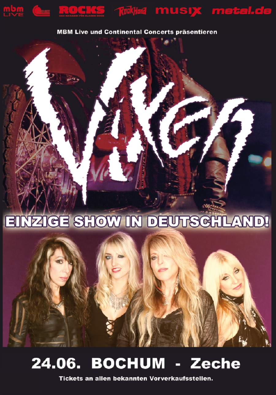 Bild Vixen Live in Bochum 2018 Poster
