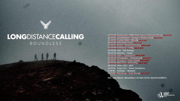 Tourplakat Long Distance Calling auf Boundless Tour 2018
