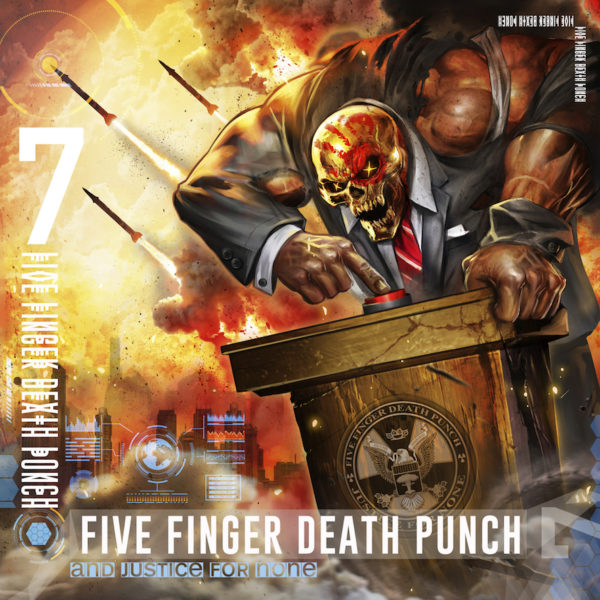 Cover Artwork zum neuen Five Finger Death Punch-Album 'And Justice For None'