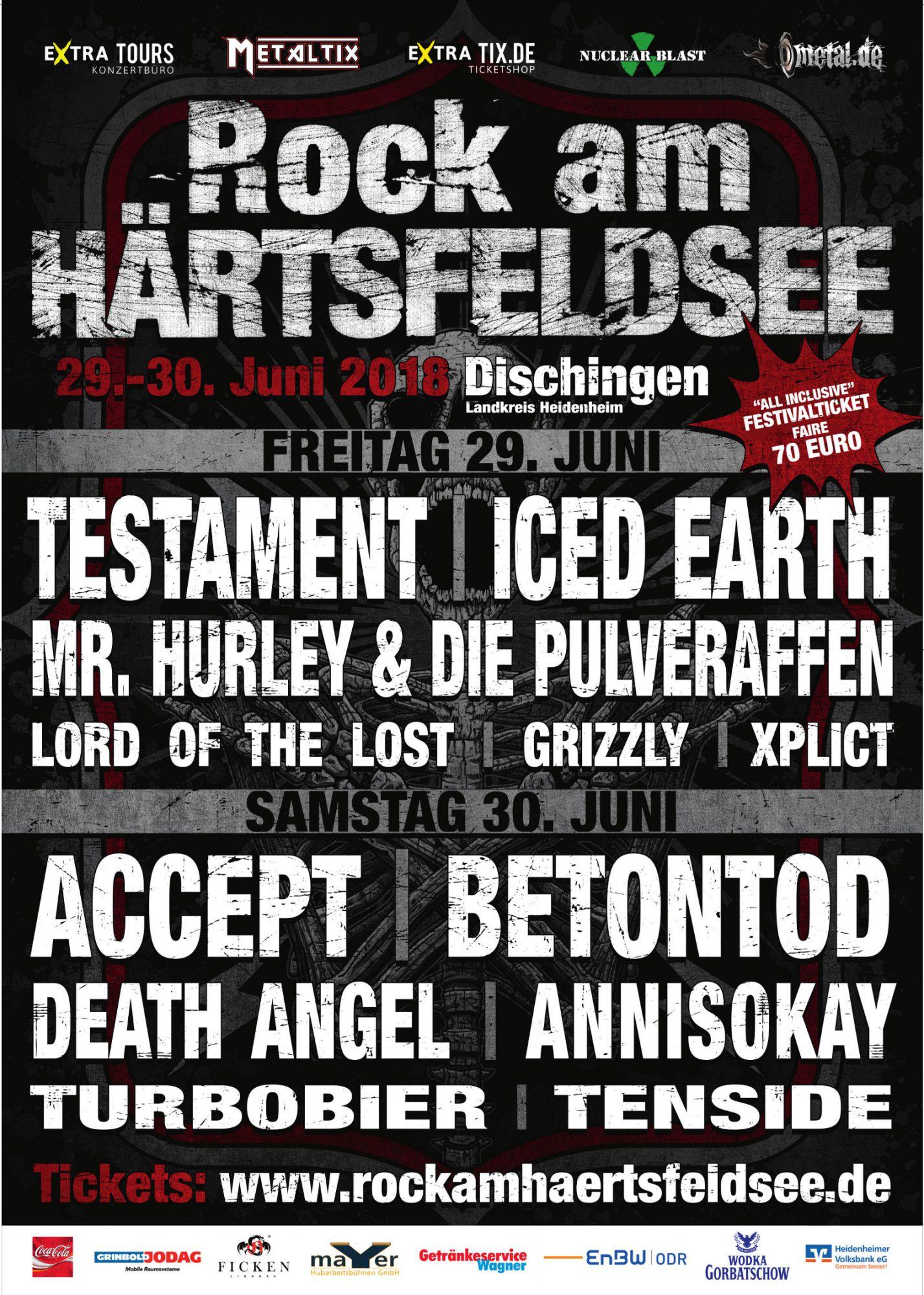 Festivalplakat zum Rock am Härtsfeldsee
