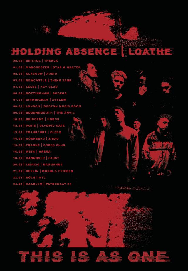 Tourplakat von Loathe und Holding Absence Live 2018