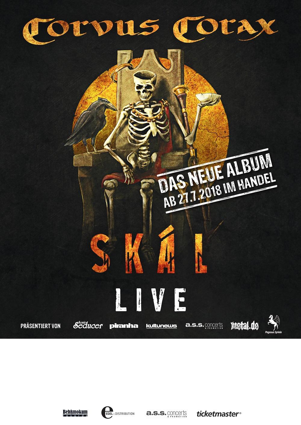Bild Corvus Corax - Skál Tour 2018 Poster