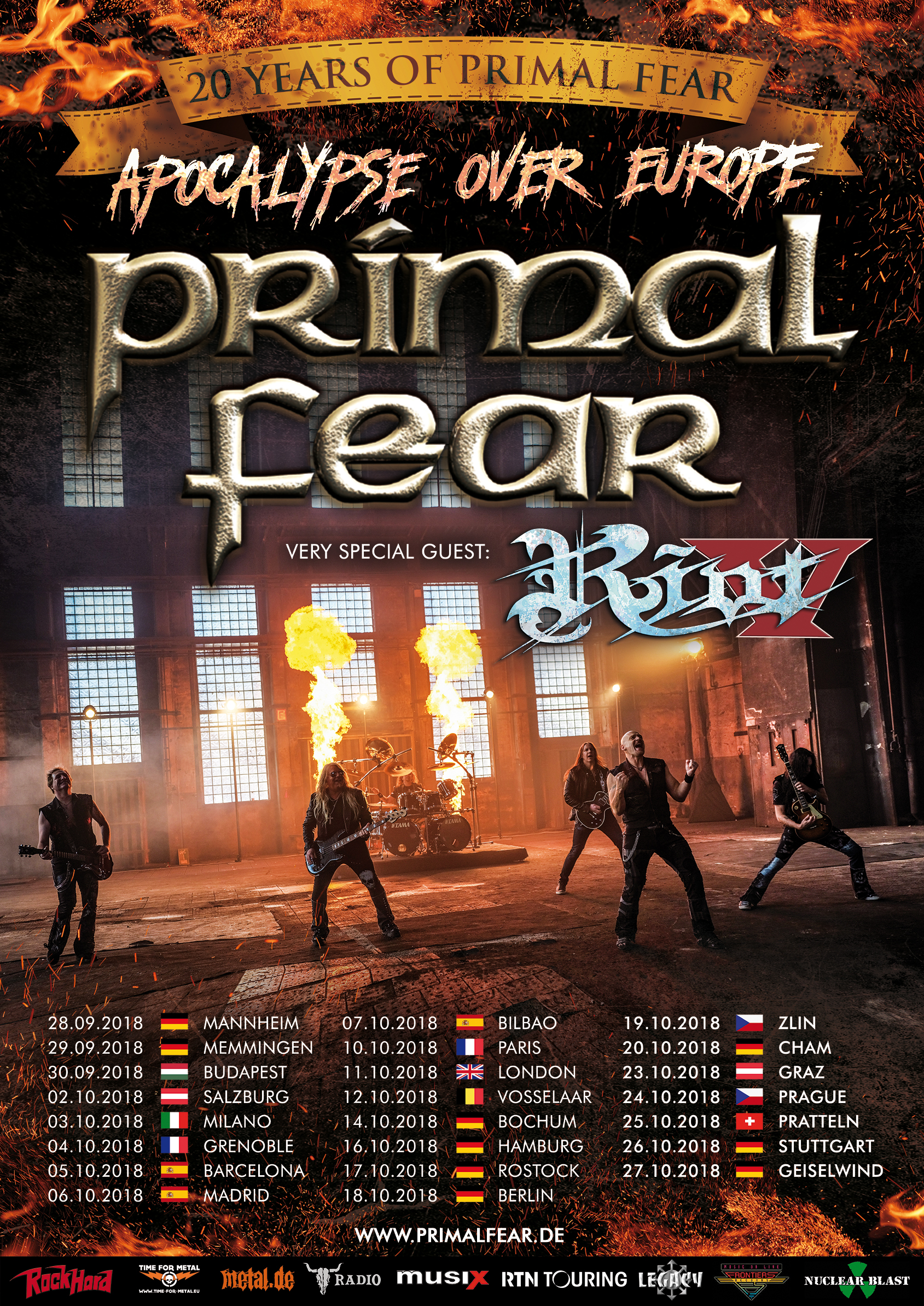 "PRIMAL FEAR - ""Apocalypse over Europe""-Tour"