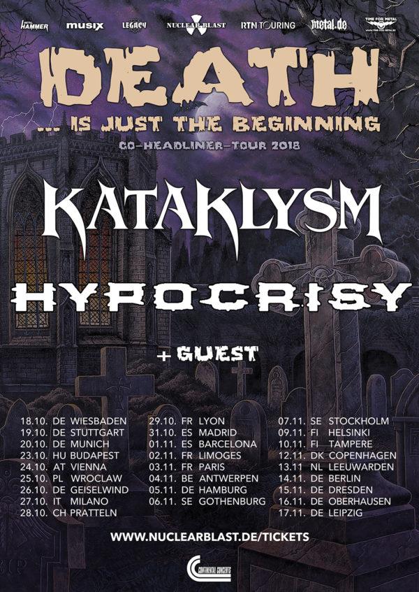 Bild Kataklysm & Hypocrisy Tour Poster 2018