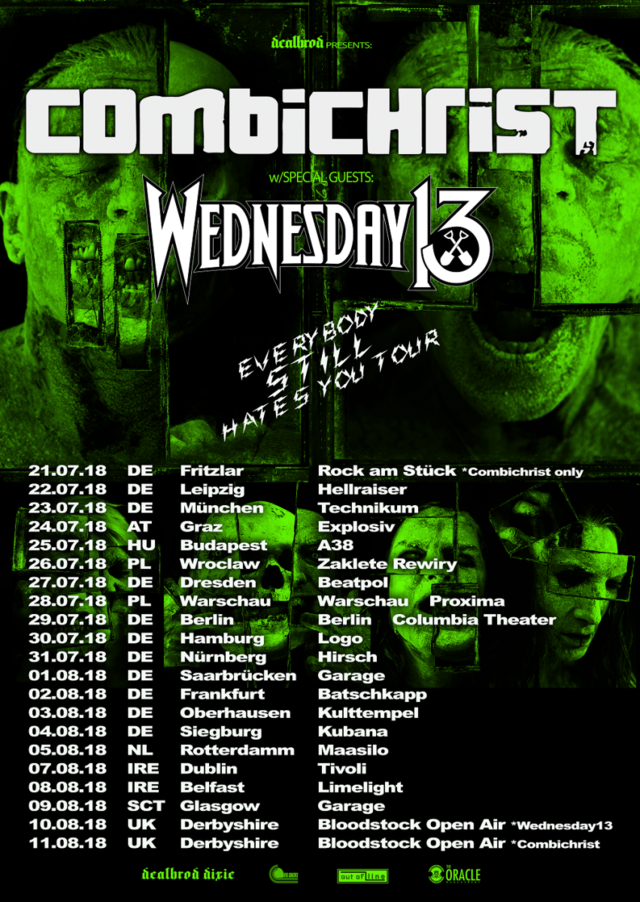 Combichrist - Everybody Still Hates You Tour 2018