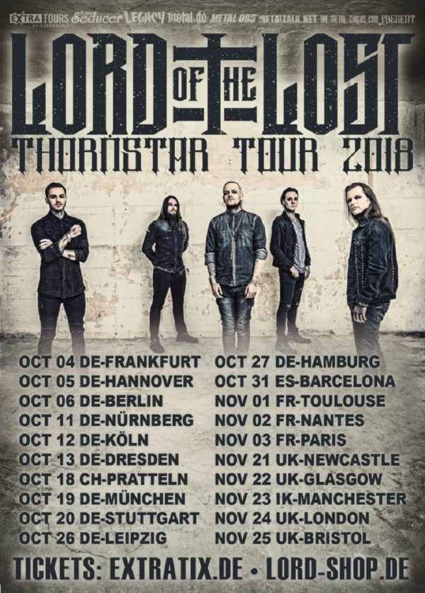 Bild Lord Of The Lost - Thornstar Tour 2018 Poster