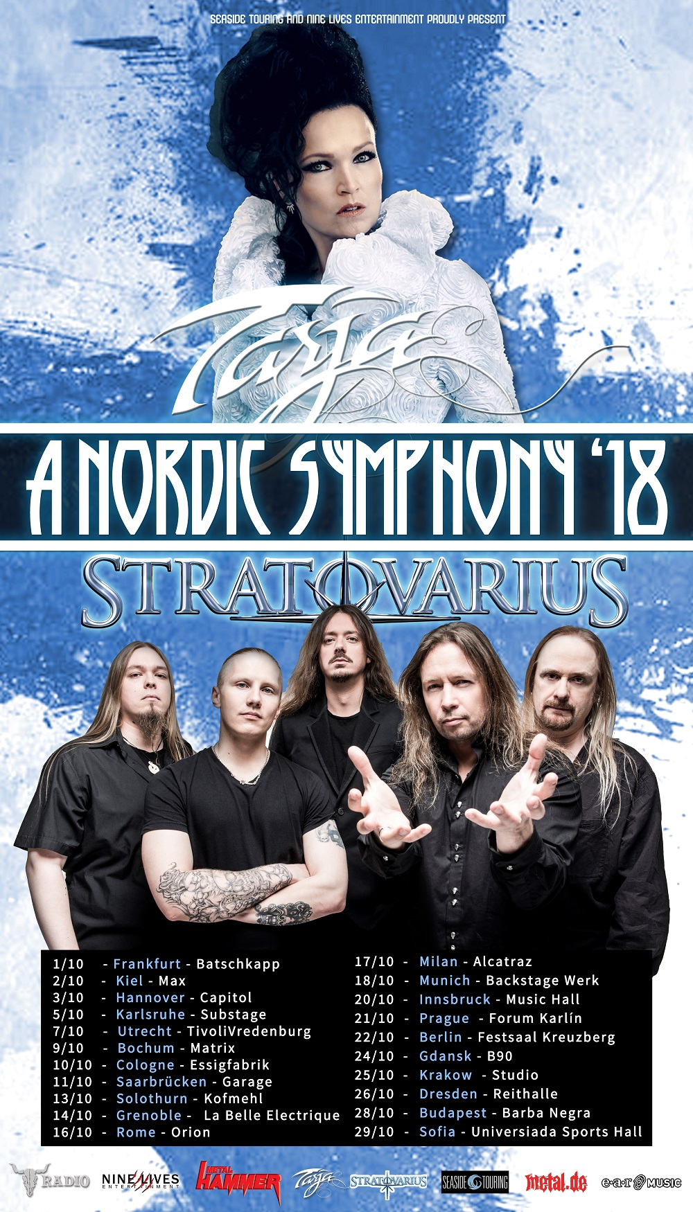 Bild Tarja & Startovarius - A Nordic Symphony Tour 2018 Poster