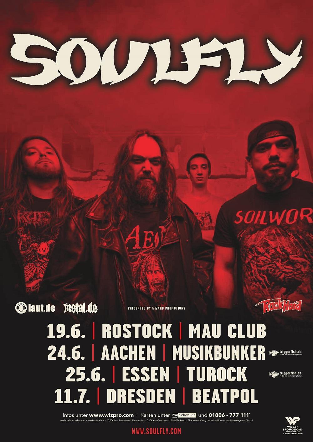 Bild Soulfly Tourposter 2018