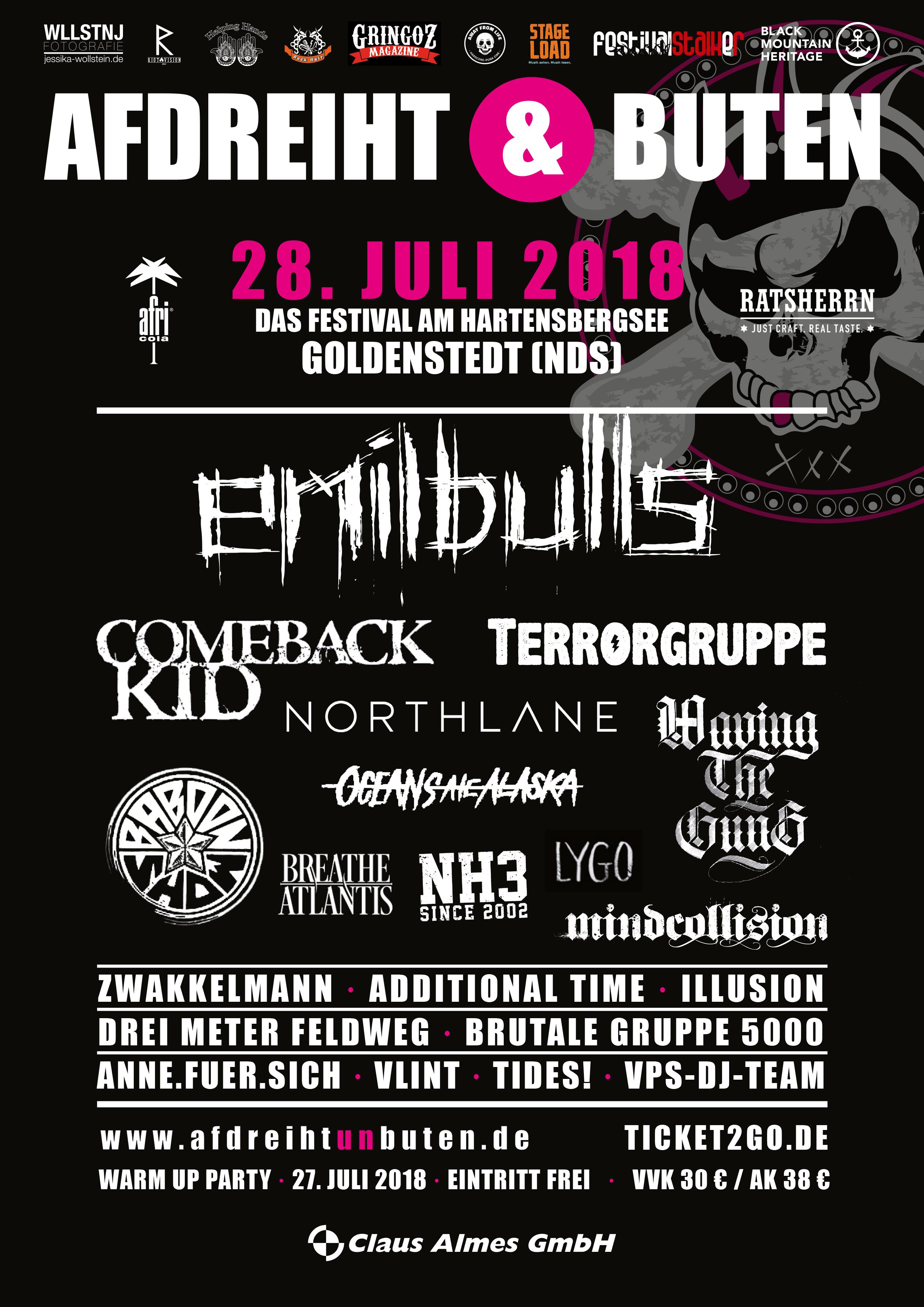 Tourplakat - Afdreiht & Buten Festival 2018