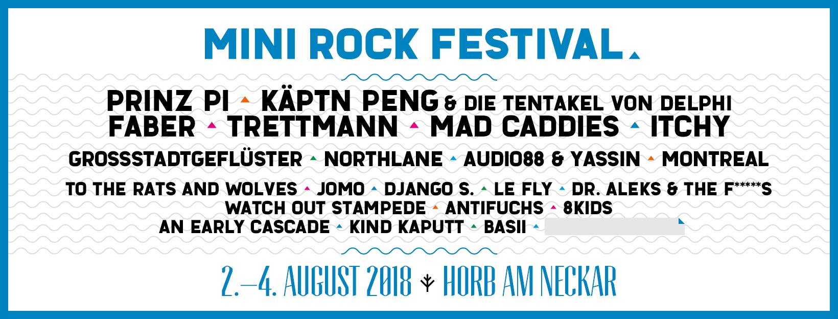 Tourplakat - Mini Rock Festival 2018
