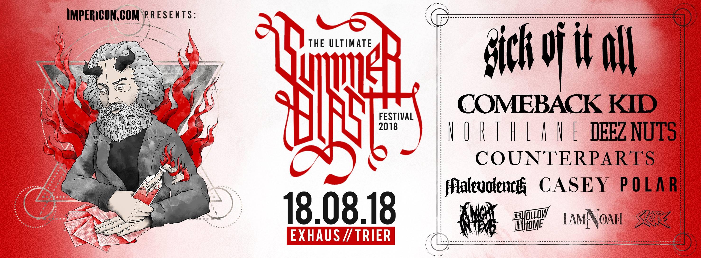 Flyer vom Summerblast Festival 2018