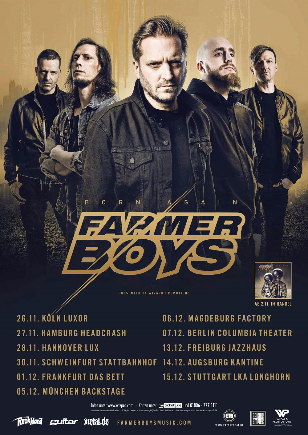 Bild Farmer Boys - Born Again Tourposter 2018